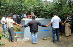 Åpning av nytt vannsystem i Caranavi